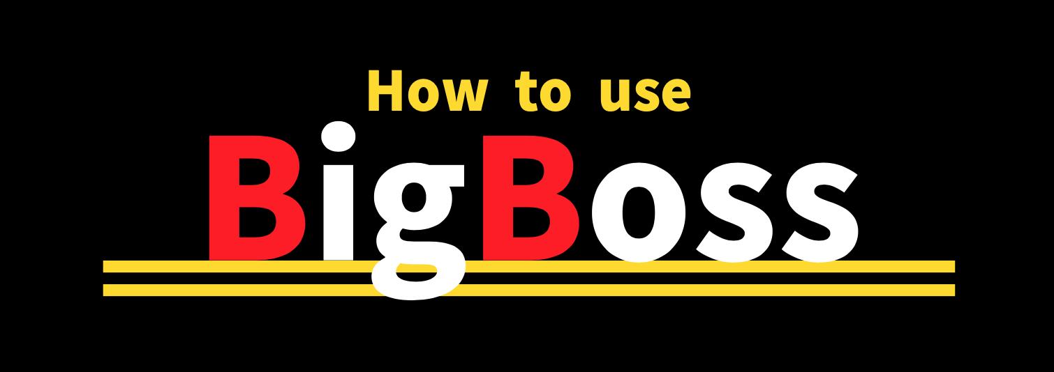 BigBossの使い方